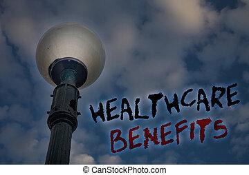 begriff, text, ihm, abdeckhauben, aufwendungen, nachricht, versicherung, erleuchten, blauer himmel, ideen, schreibende, geschaeftswelt, reflections., wort, pfahl, benefits., wolkenhimmel, licht, medizin, bewölkt , healthcare