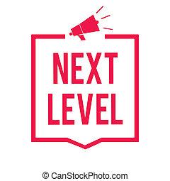 begriff, text, rahmen, level., eins, nächste, lautsprecher, informationen, beziehen, boden, schreibende, strömung, message., megaphon, rotes , mehr, geschaeftswelt, kommunizieren, nach, wichtig, als, wort, haben