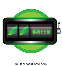 begriff, vektor, grün