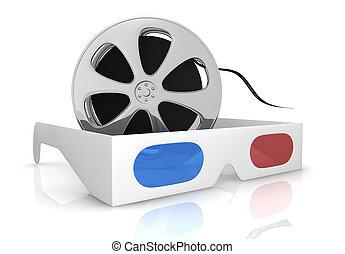 begriff, von, 3d, film, technologie