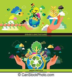 begriff, wohnung, ökologie, design, verwerten wieder