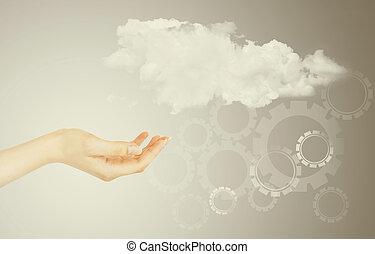 begriff, wolke, rechnen