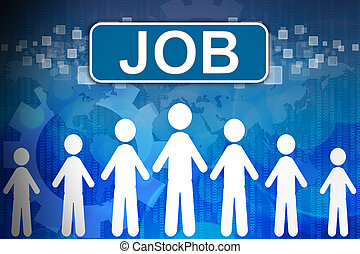 begriff, wort, arbeit, human resources