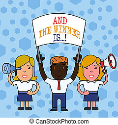 begriff, wort, geschaeftswelt, verkünden, exam., text, gewinner, konkurrenz, schreibende, ort, is., gerieten, oder, zuerst