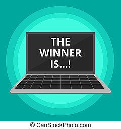 begriff, wort, geschaeftswelt, verkünden, wettkampf, text, gewinner, competition., schreibende, gewonnen, sieg