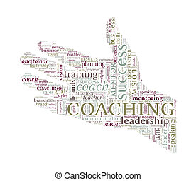 begriff, wort, -, hand, portion, trainieren, vektor, wolke