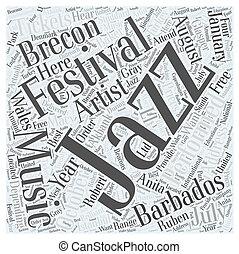 begriff, wort, jazz- musik, feste, wolke