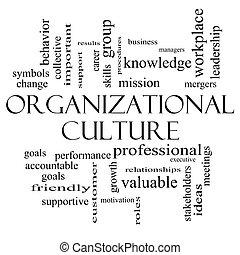 begriff, wort, kultur, schwarz, organisatorisch, weiße wolke