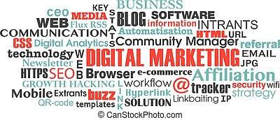 begriff, wort, marketing, etikett, digital, wolke