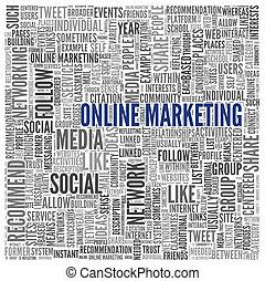 begriff, wort, marketing, etikett, online, wolke