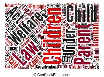 begriff, wort, text, kind, hintergrund, wohlfahrt, gesetz, wolke