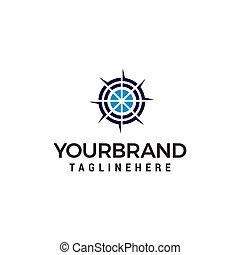 begriff, ziel, vektor, design, schablone, logo