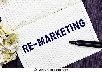 begrifflich, hand schreiben, ausstellung, re, marketing.,...