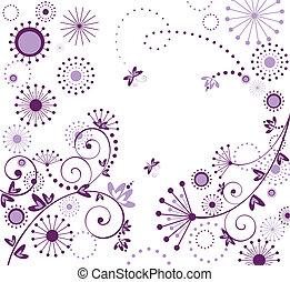 begroetende kaart, viooltje