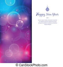begroetende kaart, voor, gelukkig nieuwjaar