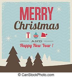 begroetende kaart, zalige kerst, en