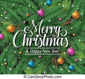 begroetenen, kerstmis, vrolijk, titel