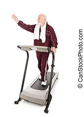 begroetenen, op, de, gym