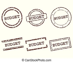 begroting, postzegels