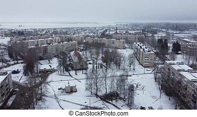 Begunitsy after the first snow aerial video.