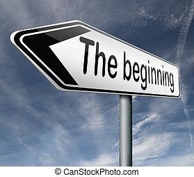 begyndelse