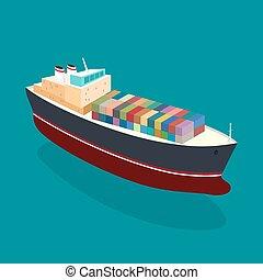 behållare skeppa, isometric
