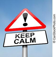 behalten, calm.