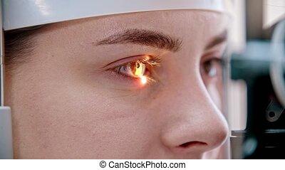 behandeling, kleur, bijzondere , bruine , oogheelkunde, -,...