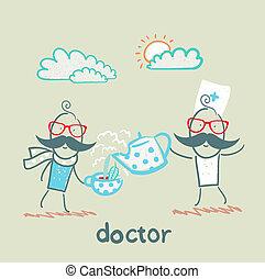 behandelt, doktor, patient
