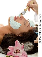 behandling, ansiktsbehandling