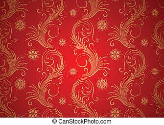 behang, kerstmis, achtergrond