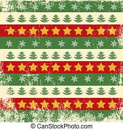 behang, kerstmis, retro