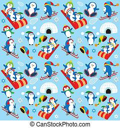 behang, penguin