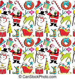 behang, retro, kerstmis