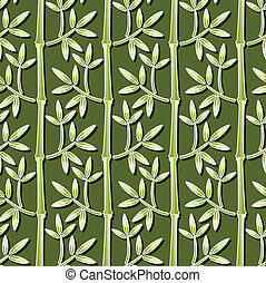 behang, vector, bamboe