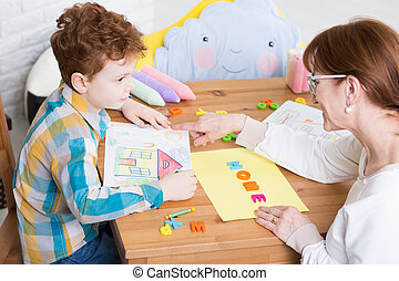 Behavior therapy with pedagogue - Therapy session with the ...