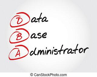 beheerder, databank