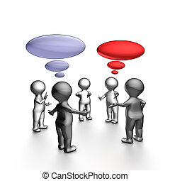 behendig, vergadering, stand-up