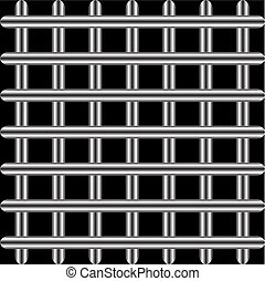 Structure from a lattice on a black background