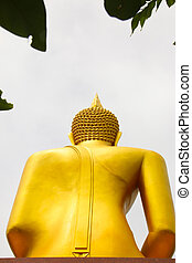 Behind of Buddha sitting Central Photo