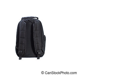 Behind side Bag for pet traveling isolated on white.  Concept about dog or cat for travel.