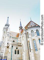 Behind the Church of St. Matthias