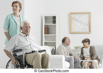 behinderten, älterer mann