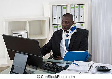 behinderten, geschäftsmann, arbeits büro