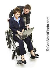 behinderten, professionell, -, gemeinschaftsarbeit