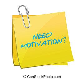 behoefte, post, boodschap, motivatie, illustratie