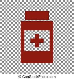 beholder, medicinsk, maroon, transparent, baggrund., tegn., ikon