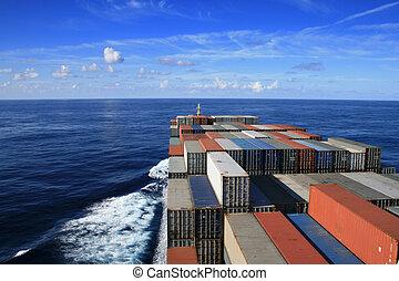 beholder skib, havet