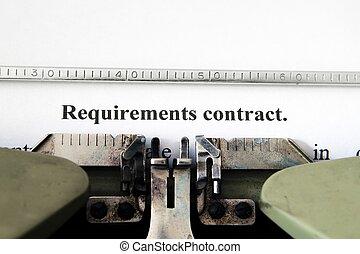 behov, kontrakt