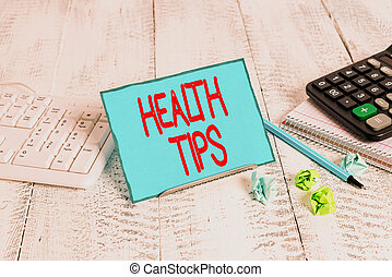 behulpzaam, wezen, gegeven, informatie, tips., healthy., raad, conceptueel, meldingsbord, zijn, tekst, het tonen, of, gezondheid, foto